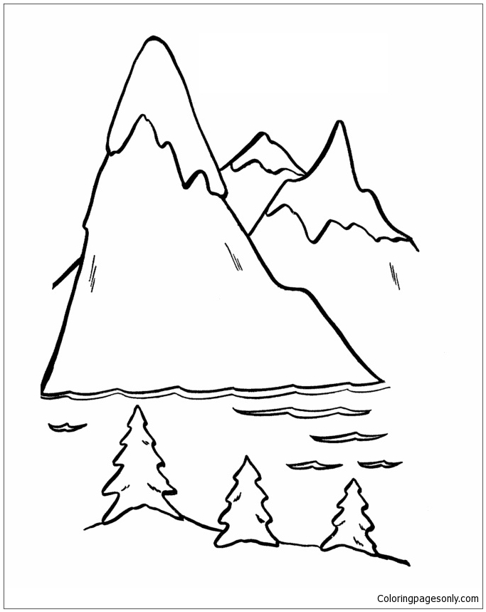 Design Mountain Coloring Page