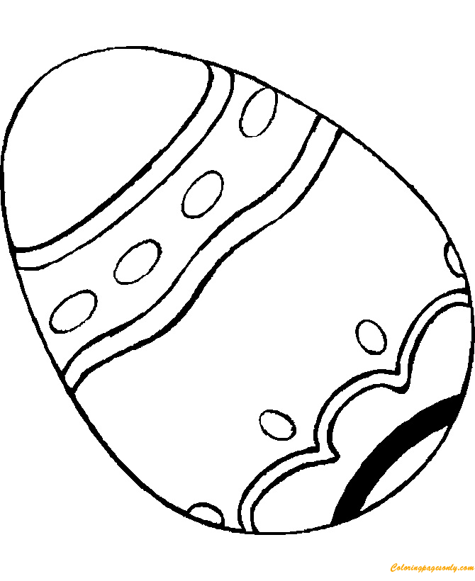 Design Simple Easter Egg Coloring Page - Free Coloring ...