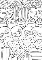 Designer Desserts Coloring Page