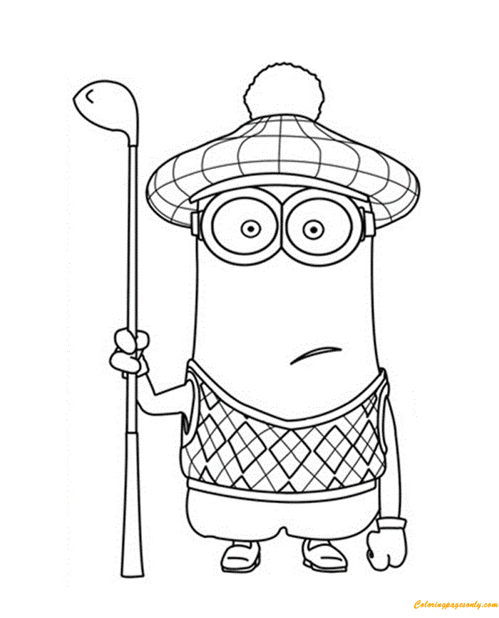 Despicable Me 2 Minions Coloring Page