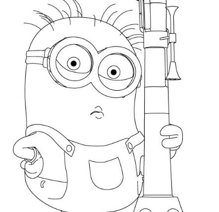 Despicable Me S Minion And Bazooka8799 Coloring Page