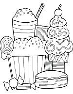 Dessert Contest Coloring Page