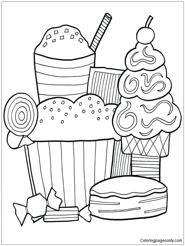 Dessert Contest Coloring Page - Free Coloring Pages Online