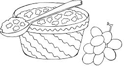 Dessert Elegant Yummy Coloring Page