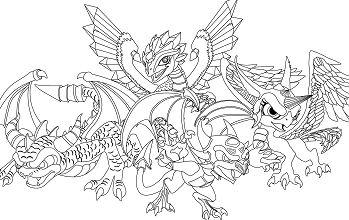 Dessin Skylanders Coloring Page