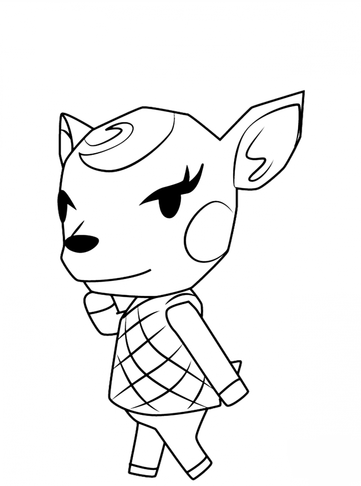 Diana Coloring Page