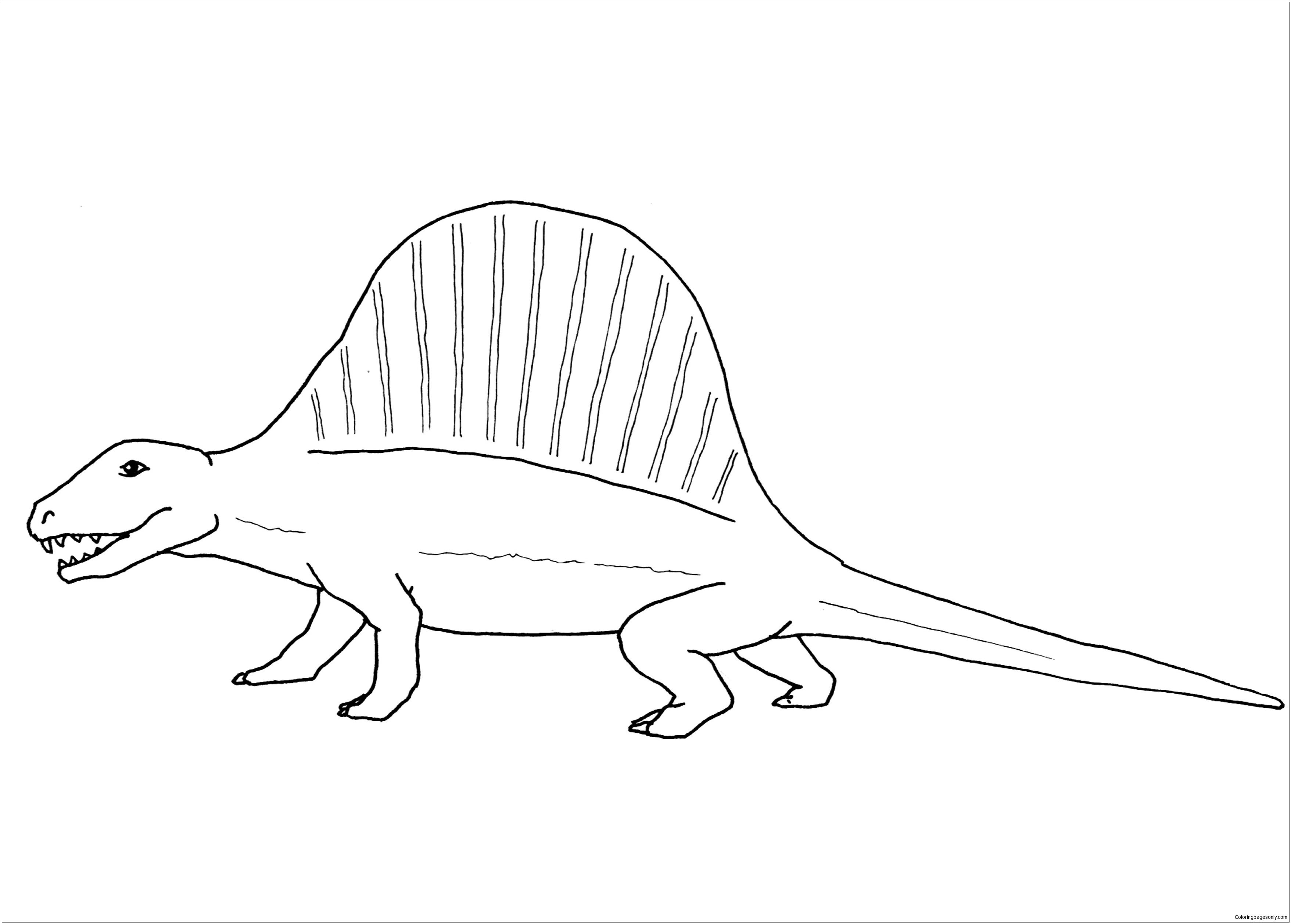 Dimetrodon Dinosaur 1 Coloring Page