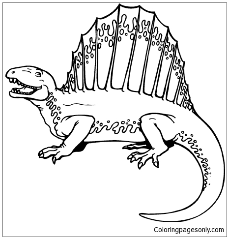 Dimetrodon 5 Coloring Page Free Coloring Pages Online
