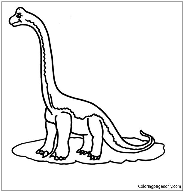 Dino Dino Coloring Page