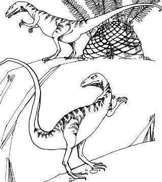 Dinosaur Compsognathus