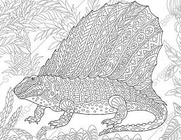 Dinosaur Dimetrodon Adult