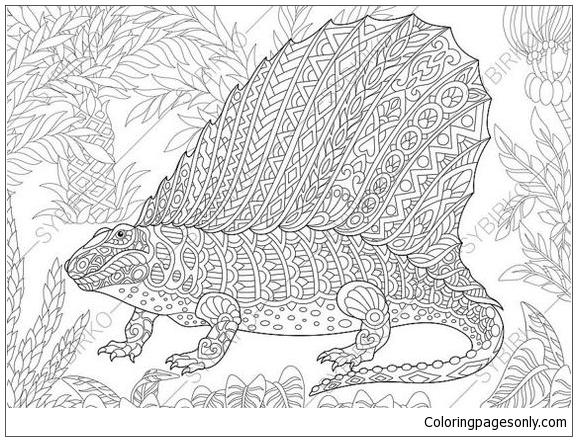 dinosaur dimetrodon adult coloring page free coloring pages online. Black Bedroom Furniture Sets. Home Design Ideas