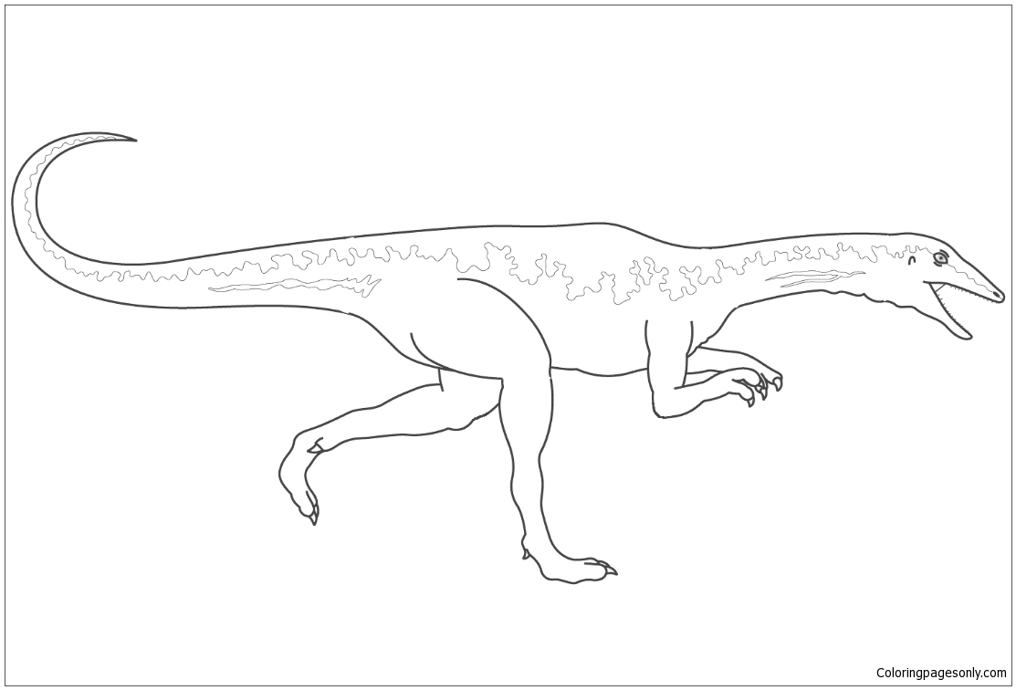 Dinosaur Velociraptor Coloring Page