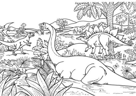 The Dinosaur Coloring Page
