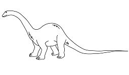 Diplodocus 2 Coloring Page