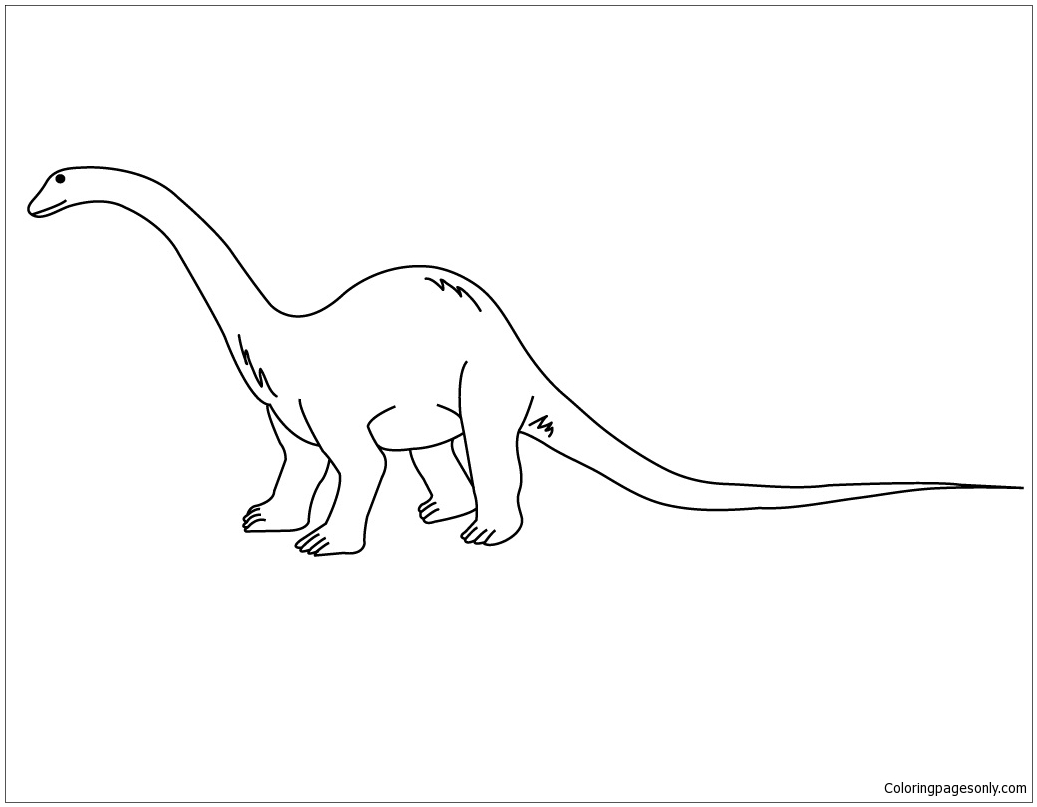 Diplodocus 2 coloring page free coloring pages online - Dessin diplodocus ...