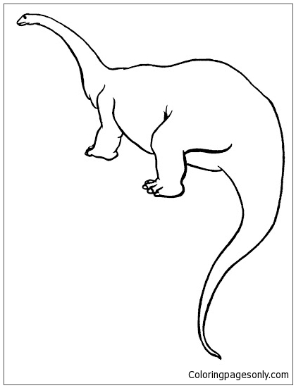 Diplodocus 5 Coloring Page