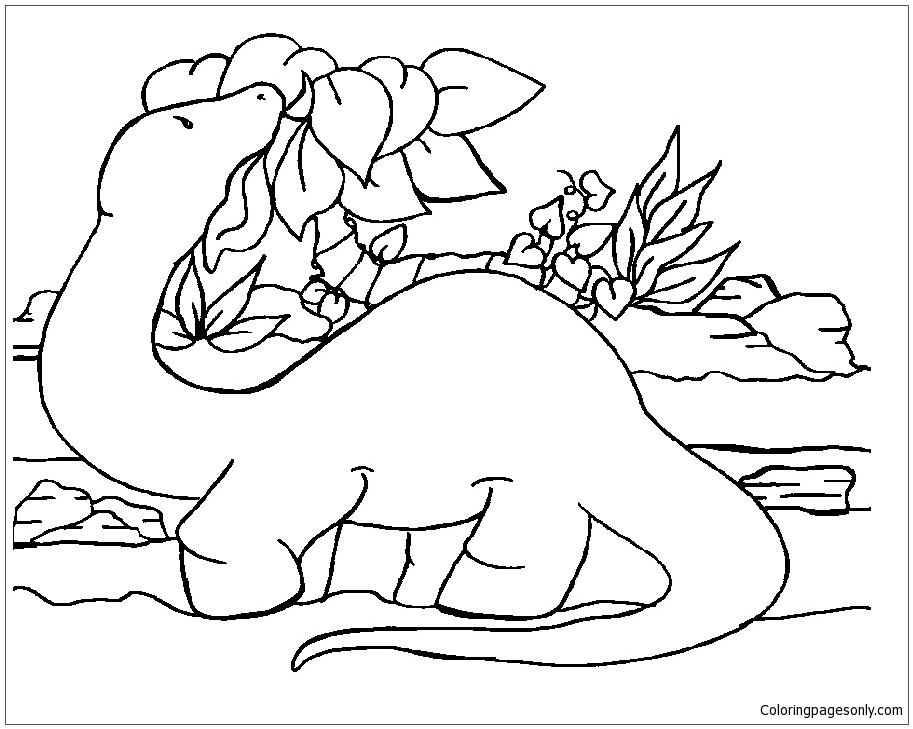 Diplodocus Dinosaur 3 Coloring Page