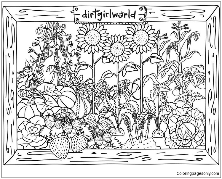 Dirt Girl World Garden Coloring Page