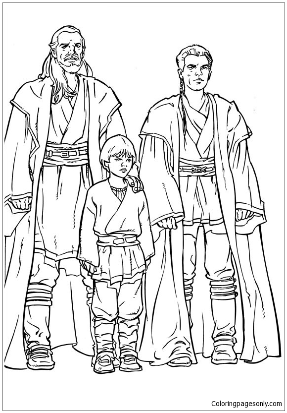 Disegno Anakin Skywalker - 2 Coloring Page - Free Coloring ...
