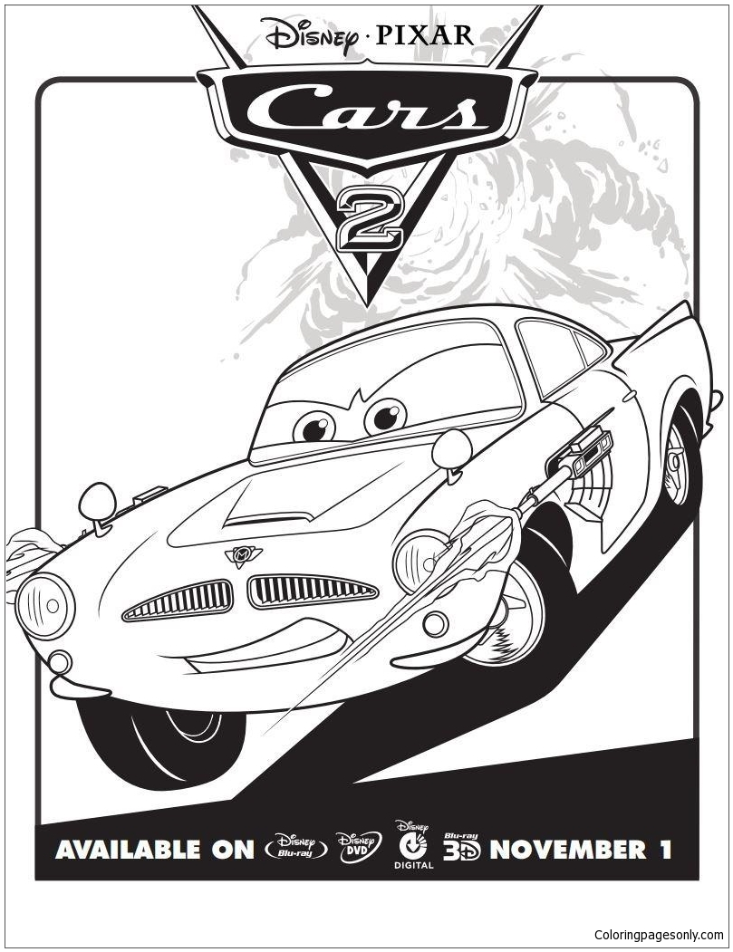 Disney Cars 2 4 Coloring Page