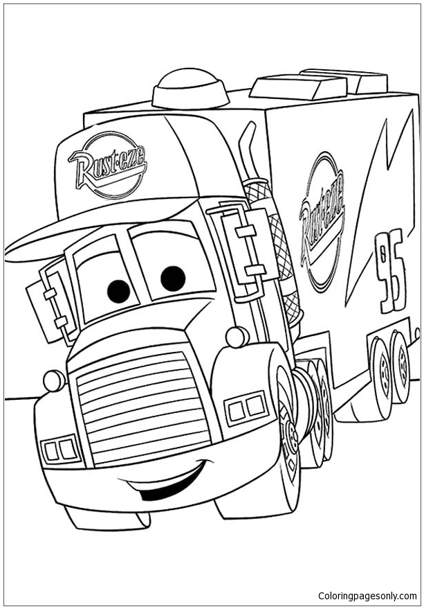 Disney Cars Mack Coloring Page Free Coloring Pages Online