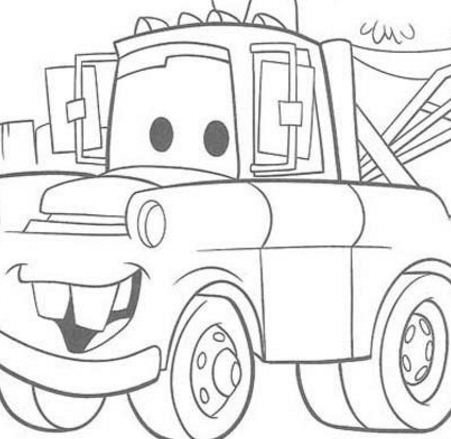 Disney Cars Mater Chevrolet Truck Coloring Page