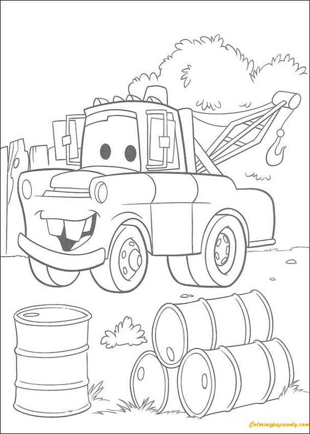 disney cars mater chevrolet truck coloring page - Mater Coloring Pages