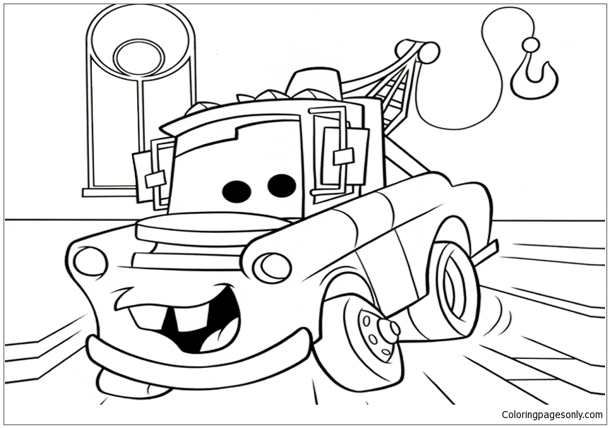 Disney Cars Movie Coloring Page