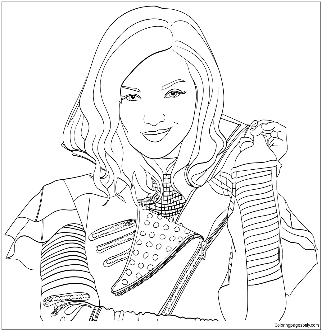 Disney descendants coloring page free coloring pages online for Dove cameron coloring pages