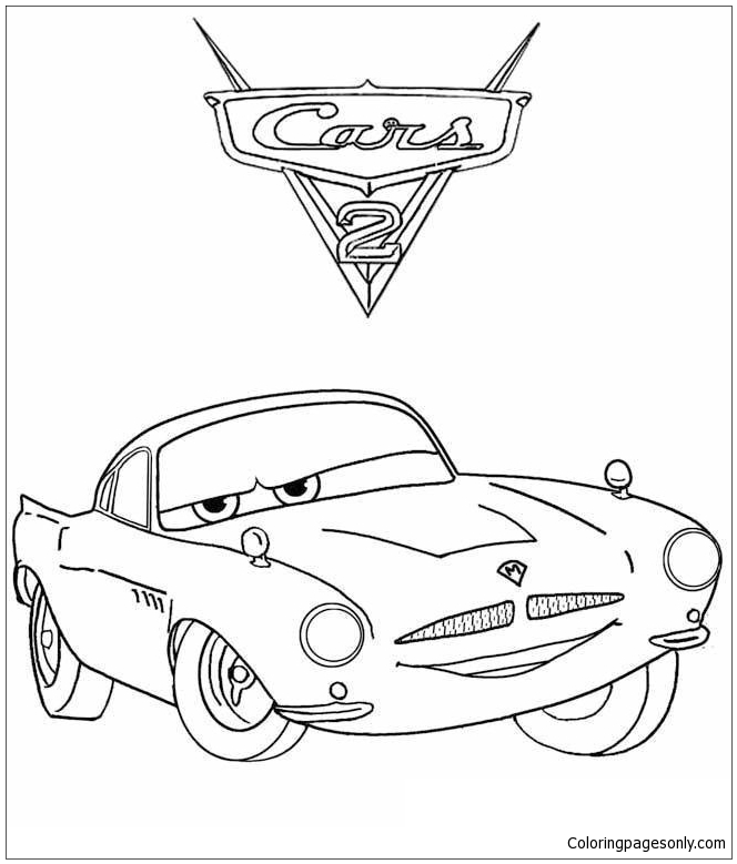 Disney Finn For Kids Cars 22d3d Coloring Page