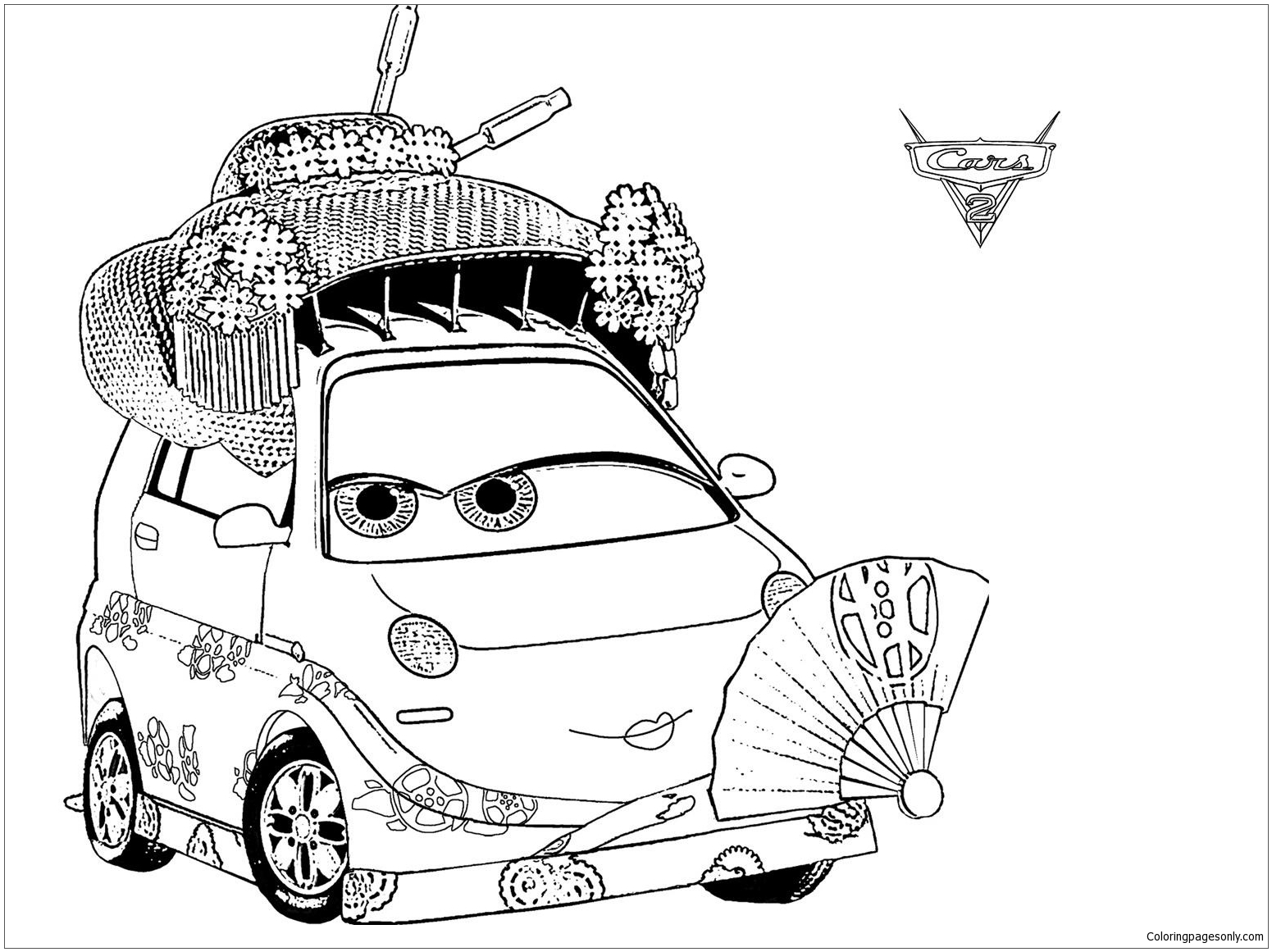 Disney Okuni For Kids Cars 204f1 Coloring Page