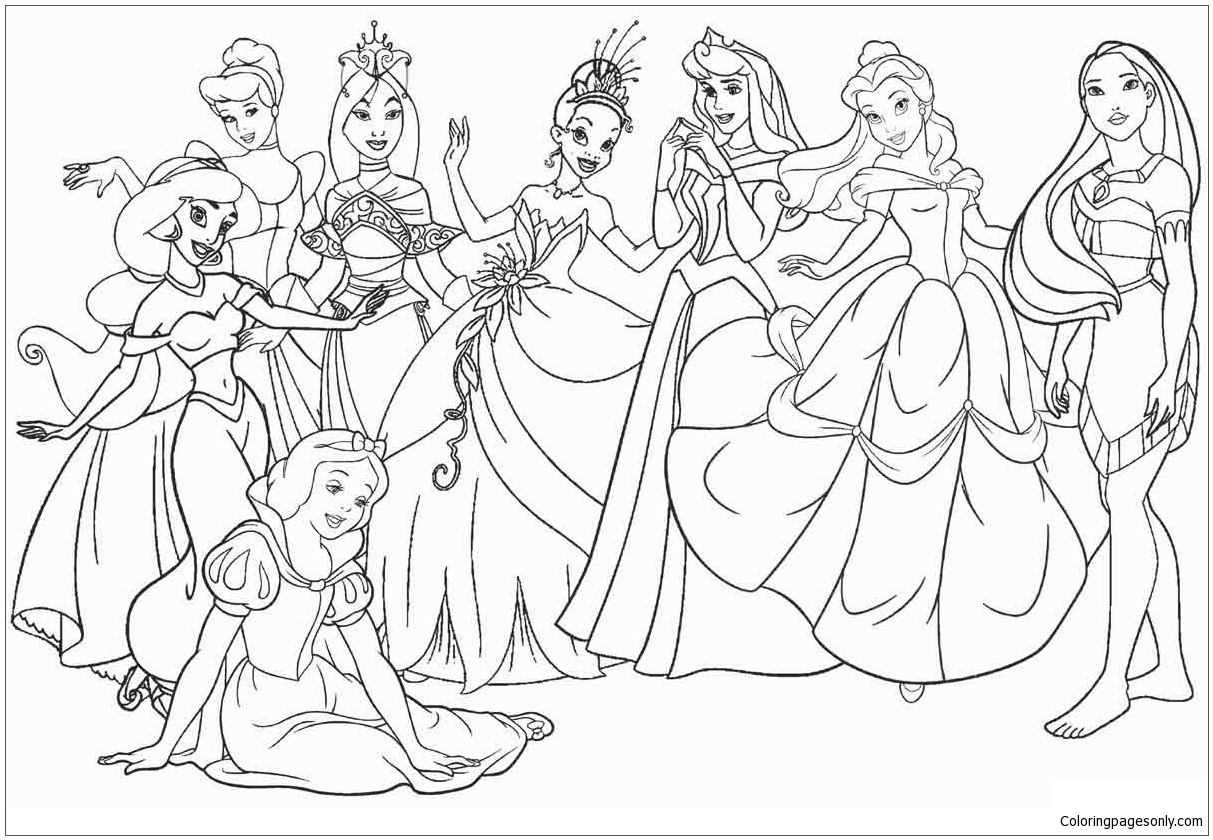 Free Disney Princess Coloring Pages Online, Download Free Clip Art ... | 840x1213