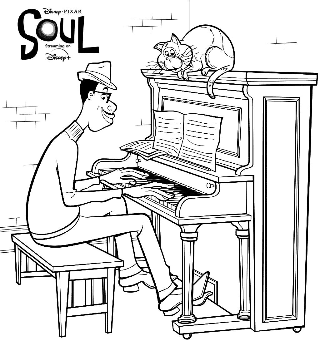 Disney Soul Coloring Page