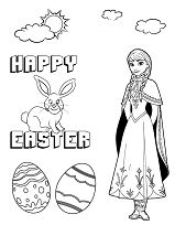 Disneys Frozen Anna And Easter Bunny