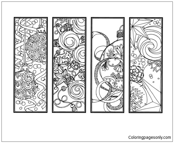 DIY Christmas Ornament Coloring Page