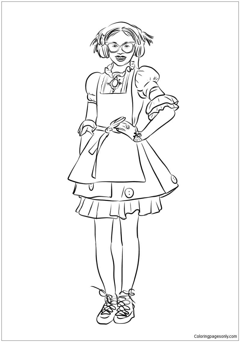 Dizzy From Descendants 2 Coloring Page