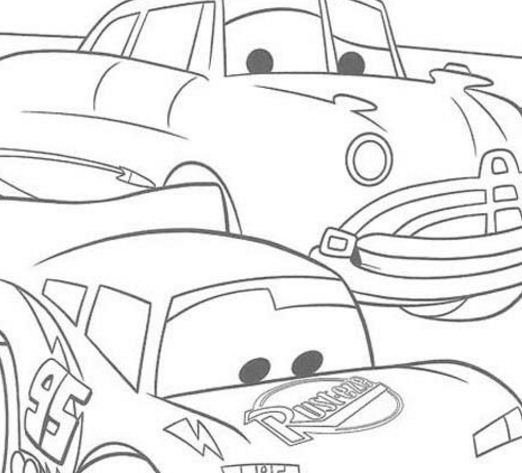 Doc Hudson And Lightning Mc Queen Coloring Page