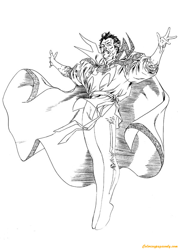 Download Avengers Coloring Pages Here Blackwidow: Doctor Strange Avengers Coloring Page