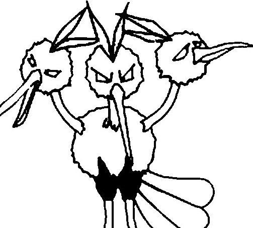 Dodrio Pokemon Coloring Page