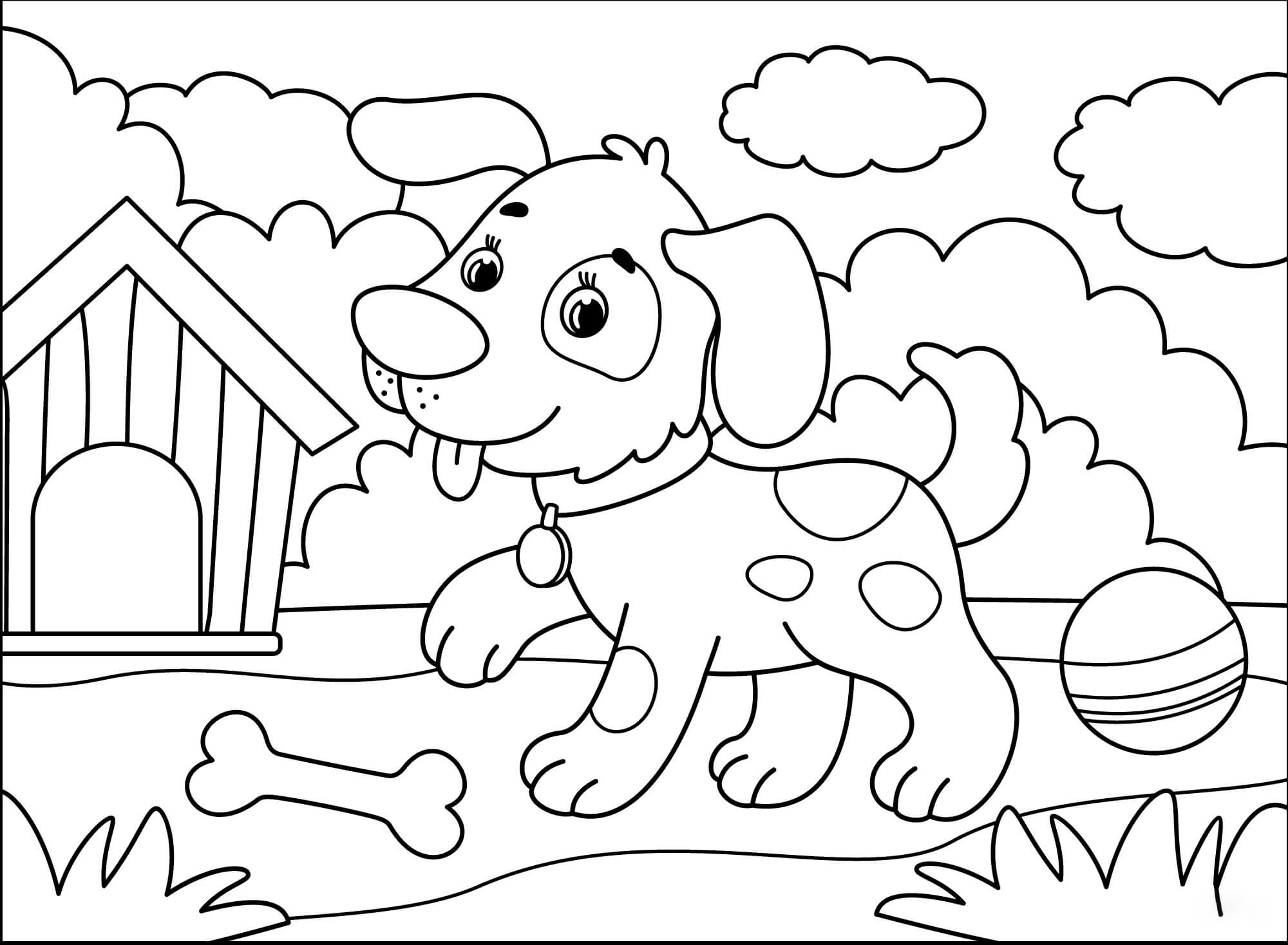 Dog Coloring page Coloring Page