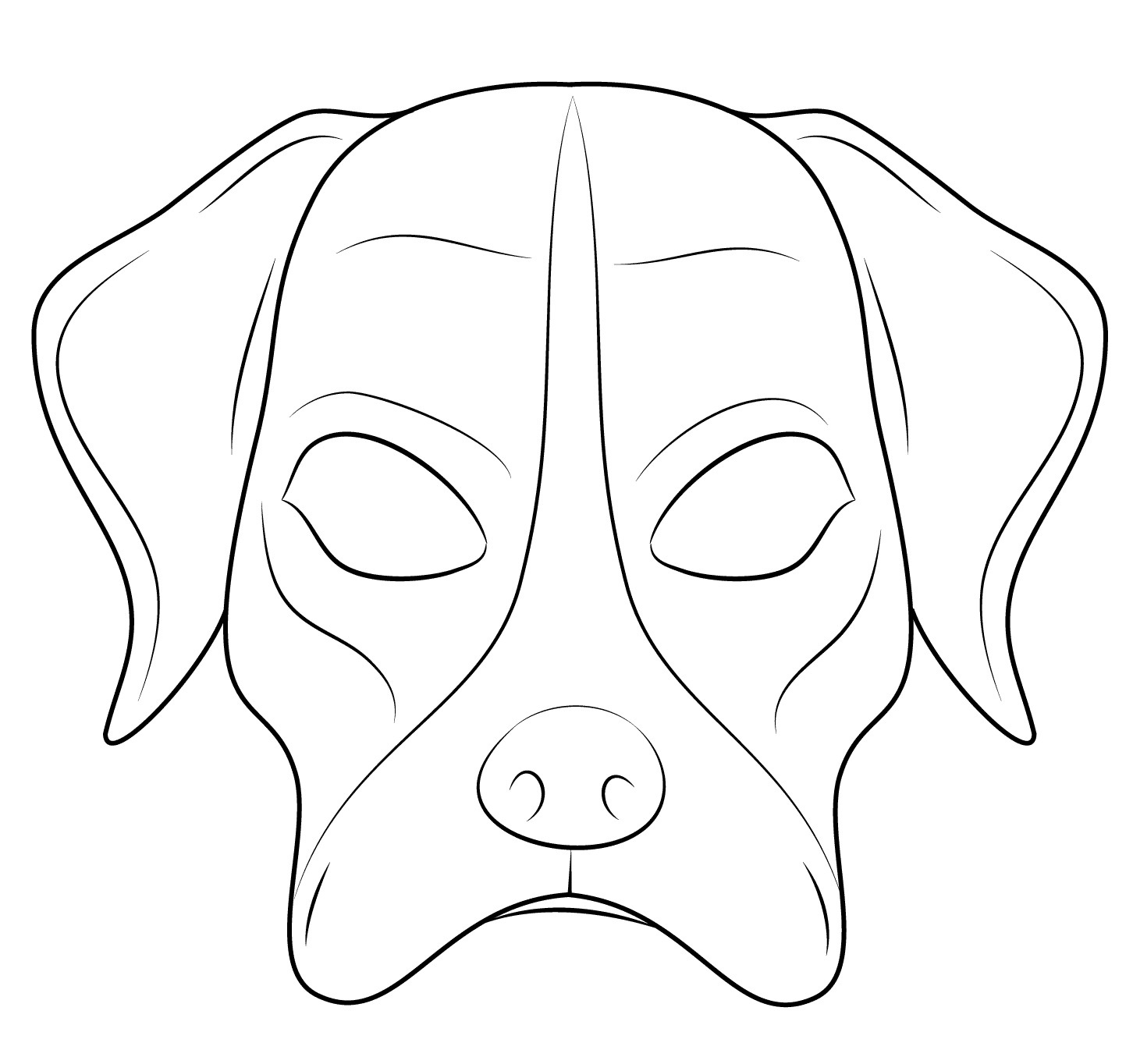Dog mask Coloring Page