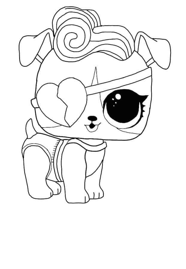 Lol Suprise Doll Doggie Stardust Coloring Page