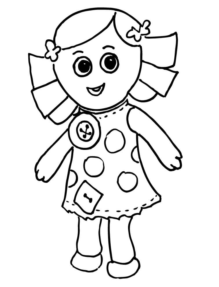 Doll Coloring page Coloring Page