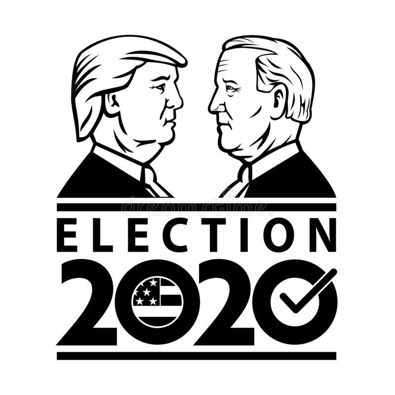 Donal Trump versus Joe Biden Coloring Page