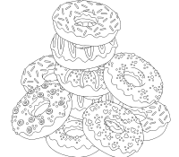 Donut 1 Coloring Page