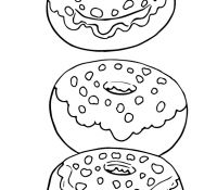 Donut 11 Coloring Page