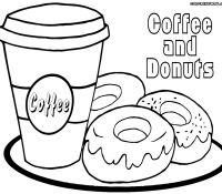 Donut 17 Coloring Page