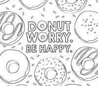 Donut 2 Coloring Page