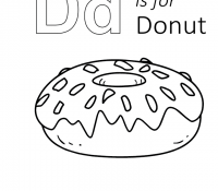 Donut 20 Coloring Page